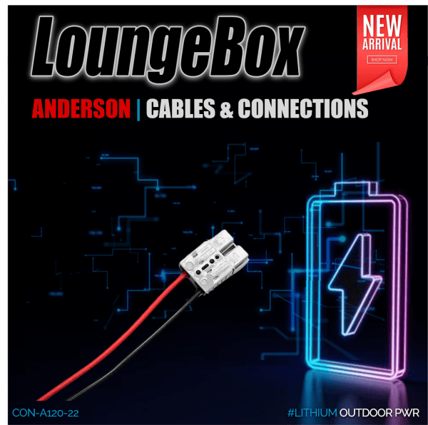 Anderson 120A Grey Con. | 8awg 100A Power cable (RED300mm Black 300mm) | other side 15mm Stripped