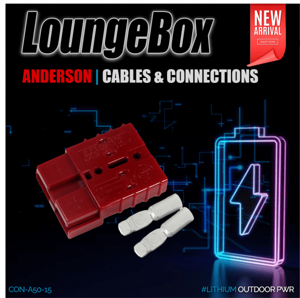 Anderson 50A Red w. CrimpContact for #8 AWG Cable