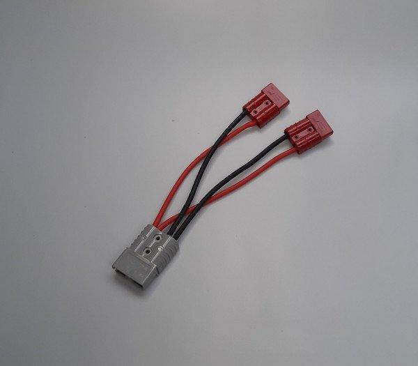 2x Anderson 50A Red Con | 100A Y Power cable 250mm | Anderson 120A Grey Con.